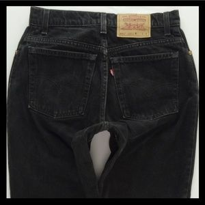 Levis 551 Black Mom Jeans Womens 10 Short 29 #1007